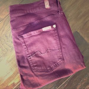 7 for all Mankind Burgundy Ankle Gwenevere